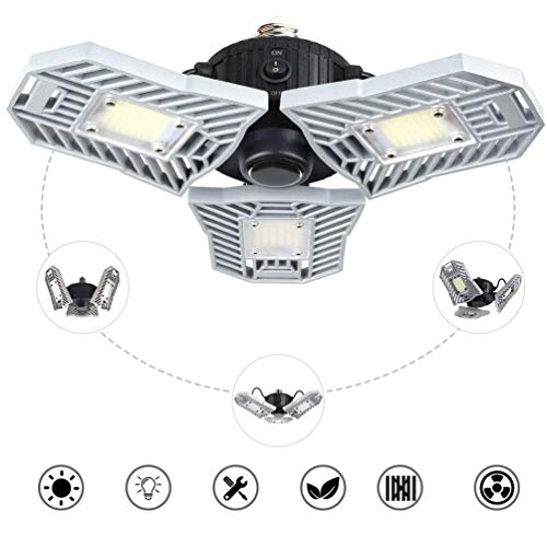 Illuminazione a LED per garage, plafoniera in gesso a tutta superficie 60WE26 / E27, garage, cantina, officina, magazzino e altre lampade a sensore di movimento.