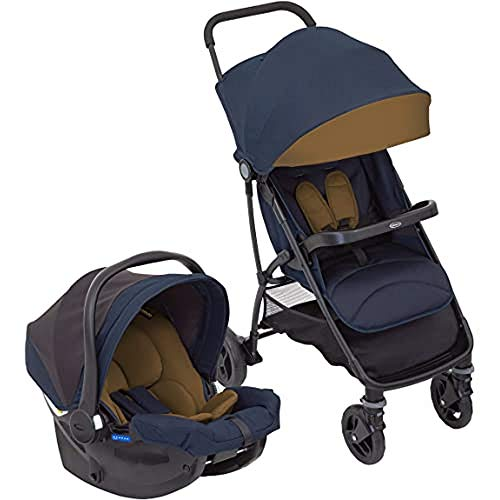 Graco Breaze Lite i-Size Travel System (Pushchair and Car Seat, Birth to 3 Years Approx, 0-15kg) with Raincover, Eclipse