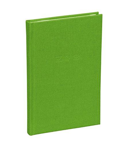 Semikolon (350866) Adressbuch Small lime (hell-grün) - Mini-Adress-Buch mit Einband aus Buchleinenbezug - 96 Seiten mit Register - 8,6 x 13,5 cm