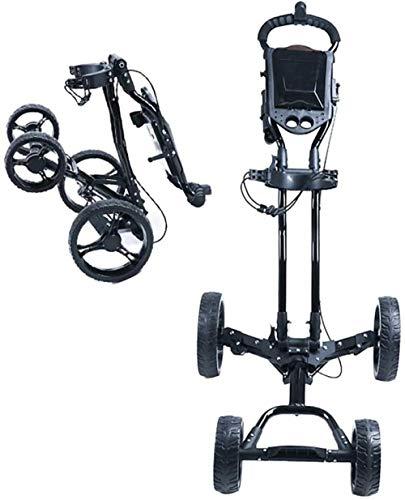 JWCN Golf 4-Rad Klapp Golf Pull/Push Trolley mit super kompaktem Klappdesign/Allradstabilität in jedem Gelände Uptodate