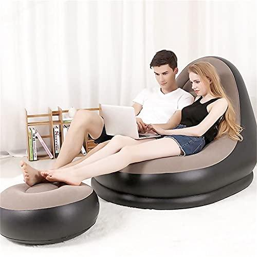 Aufblasbare Couch Luftlieger Outdoor Aufblasbares Schlafsofa Split Falten Aufblasbarer Stuhl, Sofa (125 * 100 * 85) cm, Pedale (63 * 29) cm, Tragbarer Wasserdicht Und Luftfest,Electric Pump