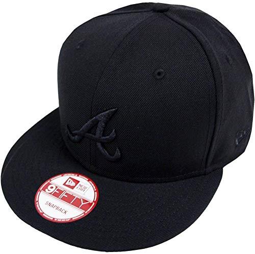 New Era MLB Atlanta Braves Black On Black Snapback Cap 9fifty Limited Edition