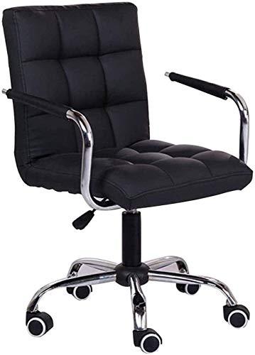AWCPP Executive Office Chair Möbel Computerstuhl Home Office Stuhl Gratis Aufzug Drehstuhl Chefstuhl Studienstuhl 360 Grad Rotation Schöne Stuhlstühle Schreibtische Stühle,Schwarz
