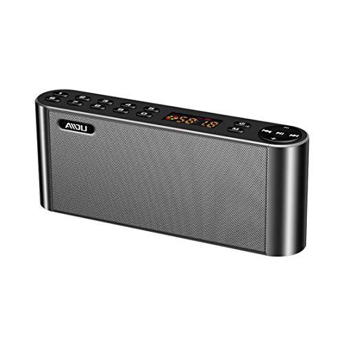 HIOD Altavoz Bluetooth Inalámbrico Ultraportátil Estéreo Bajo Pesado Alcance Bluetooth 33 Pies Altavoz Bluetooth con Micrófono,Gray