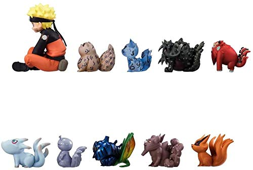 ZXLLY Set of 11 Pieces Naruto with Tailed Beasts Action Figures