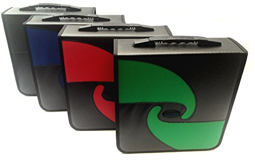 Boostwaves Premium PU Vinyl Leather 240 CD/DVD Media Wallet Folder Carrying Case, Assorted Colors