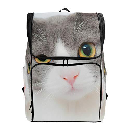 Ahomy Schulranzen Reiserucksack mit Katzen-Motiv für Teenager Mädchen Jungen