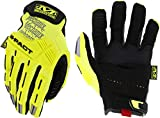 Mechanix Wear Size 10 Hi-Viz Yellow M-Pact Synthetic Leather And TrekDry Full Finger Anti-Vibration Gloves With Hook And Loop Cuff, Large (SMP-91-010)