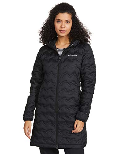 Columbia Women's Delta Ridge Long Down Jacket, Black, Large