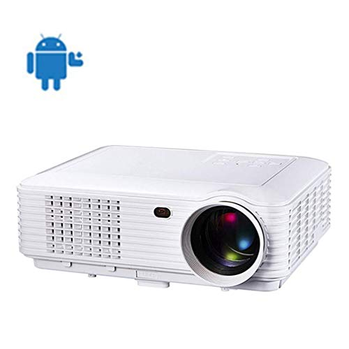 Projector, Home Android Smart Video Projector, WiFi Wireless Connection with Screen, Built-in Dual Audio, HD Lens, LED, 1080P, Entertainment, Office,Party,Game