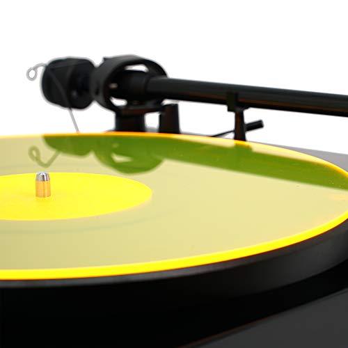 Acrylic Turntable Mat - YellowLit - LP Slipmat