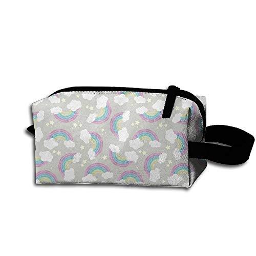 Travel Makeup Chalkboard Rainbows Beautiful Waterproof Cosmetic Bag Quick Makeup Bag Pencil Case
