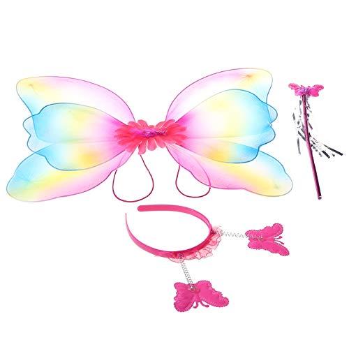 WEDFTGF - Juego de 3 piezas de disfraz de hadas para niños...