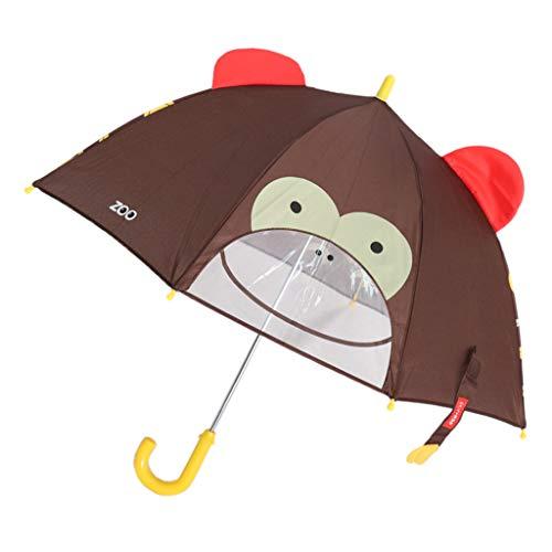 F Fityle Paraguas Automático de Dibujos Animados Regalo de Recién Nacido Blandos de Entrenamiento - Mono