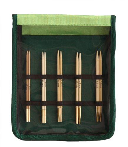 Knit Pro 22541 - Set de Puntas de Agujas de Coser Intercambiables (bambú, Gruesas)