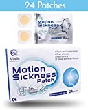 Motion Sickness Patch - 24 Pack - Works to Relieve Vomiting, Nausea, Dizziness and Other Symptoms resulted from Sickness of Cars, Ships, Airplanes, Cruise, Trains & Other Movement.