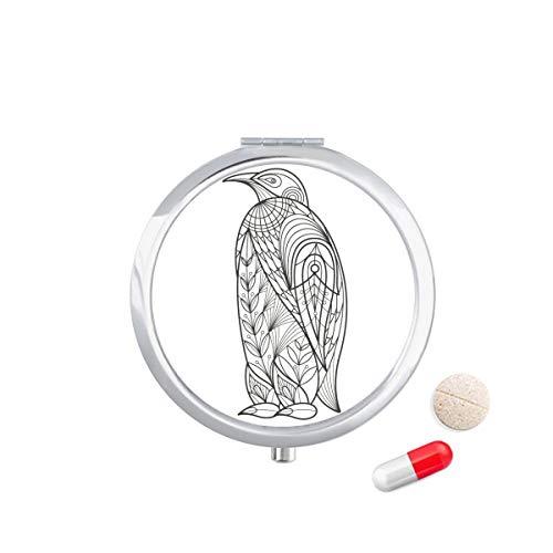DIYthinker Grootste Vogel Verf Koude Reizen Pocket Pil Case Medicine Drug Opbergdoos Dispenser Spiegel Gift