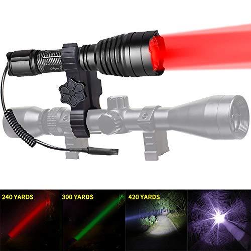 Odepro KL41 Plus Hunting Flashlight Kit Red Light Green Light White...