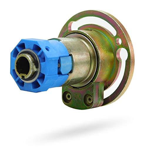 Rolladen Kegelradgetriebe 3:1 | Freilauf Links | Innen 4Kant | Rolladengetriebe Stahlwelle SW40