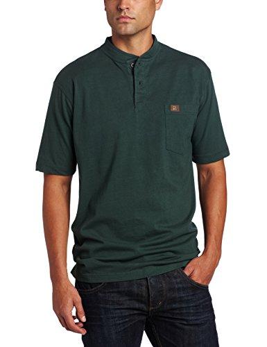 Wrangler Riggs Workwear Men's Short Sleeve Henley,Forest...