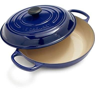 Le Creuset Signature Enameled Cast-Iron 5-Quart Round Braiser, Indigo