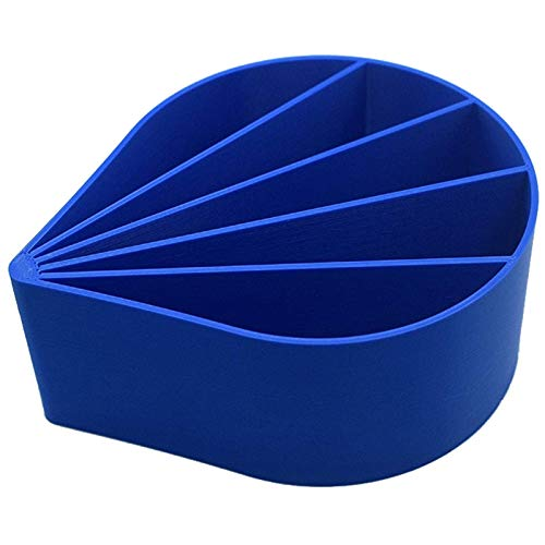 ZXVC Acrylic Pour Cup, 5 Channels Paint Pouring Split Cup Blue Art Pour Supplies Art Painting Tool for Mixing Paint, Stain, Epoxy, Resin (12 oz)
