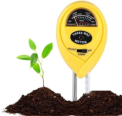 Ongmies 3in1 Soil pH Meter, Soil Tester Kits with Moisture,Light and PH Test for Garden, Farm, Lawn, Indoor & Outdoor, Promote Plants Healthy Growth (No Battery Needed)