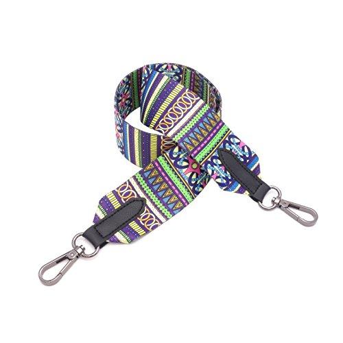 BENAVA Taschengurt Bunter Schultergurt Tragegurt - stilvolles Zubehör für alle Schultertaschen, Tragetaschen und Handtaschen - 90 cm (Schwarz)