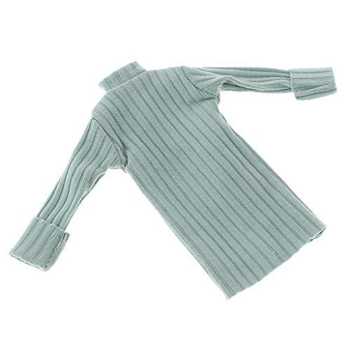 Toygogo Schöne Puppe Lange Rollkragenpullover Kleidung Für Blyth, Licca, Azone, - Blau