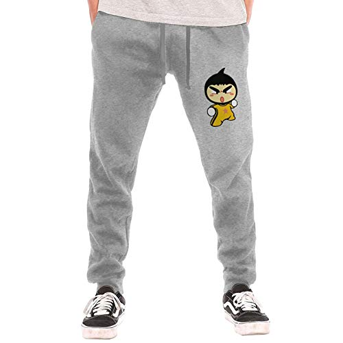 Bruce Lee The Dragon Mens Sweatpants Basic Sport Pants Gray