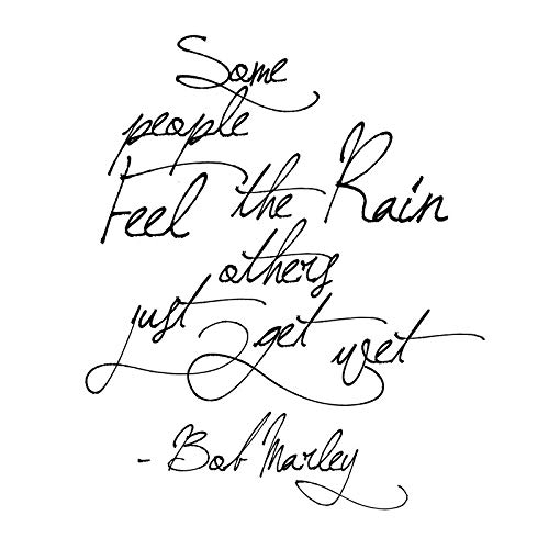 Some People Feel The Rain Vinyl Wall Decal Home Decor