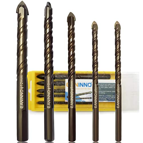 5 Piece Concrete Drill Bit Set