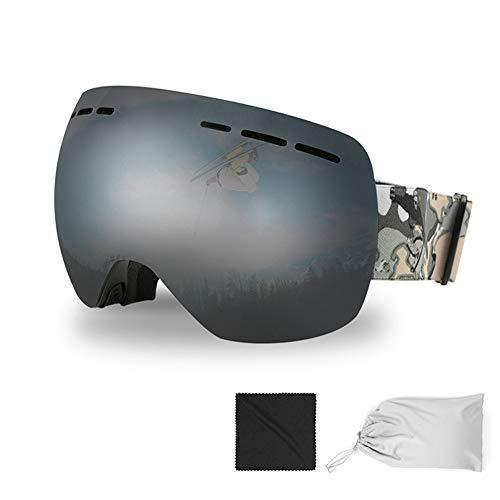 LYXCM Abnehmbare OTG-Skibrille Für Damen Und Jugendliche Winddichte Anti-Fog-Skibrille Mit UV-Schutz Geeignet Für Skifahren Snowboarden Und Motorschlittenfahren,D