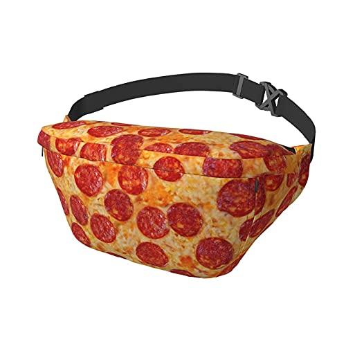 Riñonera Pepperoni Pizza Sling Bag Riñonera Bandolera Mochila de Hombro Casual Bolsas de Pecho Mochila de Cintura