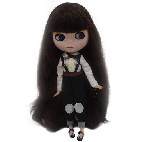 Fsolis 1/6 BJD Puppe ist der Neo Blythe ähnlich,12 Zoll,4-farbige wechselnde Augen Mattes Gesicht und Kugelgelenken am Körper.