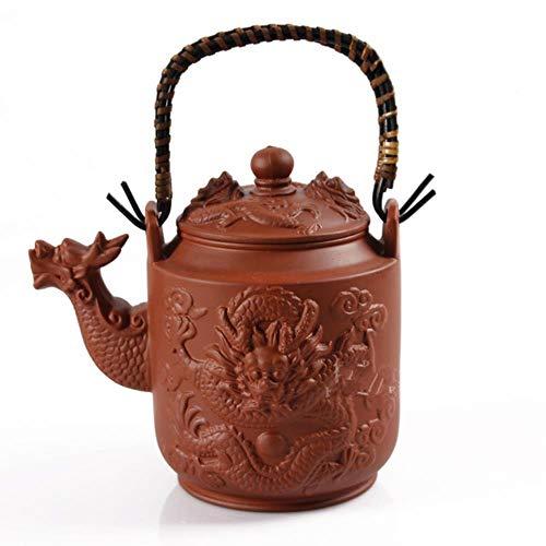 LinZX 780 ml Dragón Tetera de Yixing púrpura té Tetera de Barro Kung Fu té Vaso de Gran Capacidad de la Caldera de cerámica Juego de té,Red