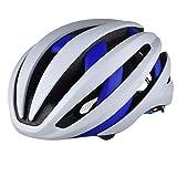 DNACC Casco de Bicicleta con Auriculares Bluetooth Cascos Superligeros Seguridad LED Luces Traseras Ajustable Hombres Mujeres Protección de Seguridad de Montaña Casco de Bicicleta,Azul