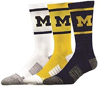 Elite Fan Shop NCAA Men's Sock 3-Pack (6 Total Socks)