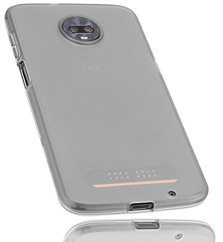 mumbi Hülle kompatibel mit Motorola Moto Z3 Play Handy Hülle Handyhülle, transparent schwarz