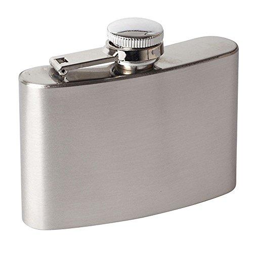 4 oz Hip Flask Set CHDHALTD Hip Stainless Steel Flask & Funnel Set for Drinking Liquor e.g. Whiskey, Rum, Scotch, Vodka | Rust & Leak Proof Discreet Alcohol Canteen