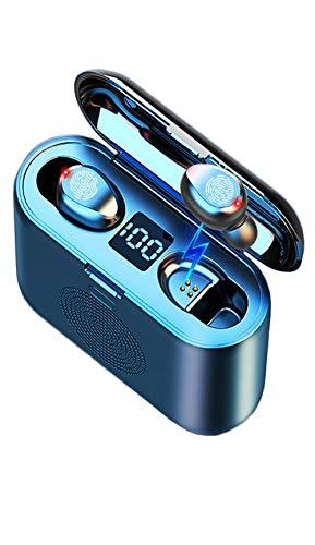 BuBu by Amazon Auriculares Inalambricos 3en1,Auriculares Bluetooth,Altavoz Bluetooth,Bateria Externa Movil,Soporte Movil,Cascos Inalambricos con Microfono Incorporado,TWS Deporte,Color Negro