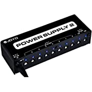 JOYO JP-02 Guitar Pedal Power Supply Pedal Board Guitar Power Supply with DC 18V Pedal Power Adapter & 9V 100mA 500mA Isolated DC Output for 9V 12V 18V Effect Pedals