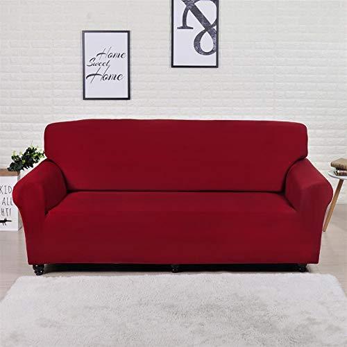 Cubierta de sofá duradera y fácil de limpiar Cubierta de sofá, tapa de sofá de color liso Cubiertas de sofá de estiramiento elástico para sala de estar cubierta de tapas de esquina Sofá seccional de e
