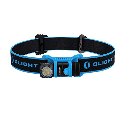 OLIGHT H1 Nova LED Stirnlampe 500 Lumen, Multi-Funktionen Kopflampe mit 5 Helligkeiten, Stirnlampe Kinder fürs Laufen, Joggen, Angeln, Campen usw (inkl. 1 x CR123 Batterie)