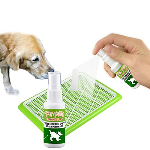 CapsA Dog Potty Training Spray | Indoor Outdoor Potty Here Training Aid for Dogs Puppies Poop Bags for Poop Pet Dog Waste Encourages Dogs to Urinate Wherever The Product Sprayed (30ml)