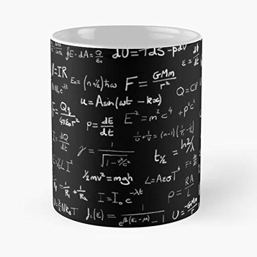 University Equation Science Newton Einstein Geek Physics Nerd Best Taza de café de cerámica de 315 ml con texto en inglés