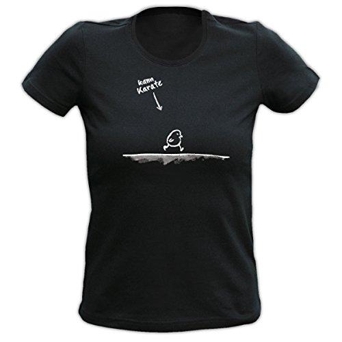 RAHMENLOS Kann Karate witziges Sprüche Tshirt Fb schwarz