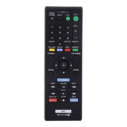 ASHATA Control Remoto Sony BLU Ray, 1Pc Control Remoto de Moda RMT-B119A Controlador de Repuesto para Sony BLU Ray, no Requiere programación ni configuración