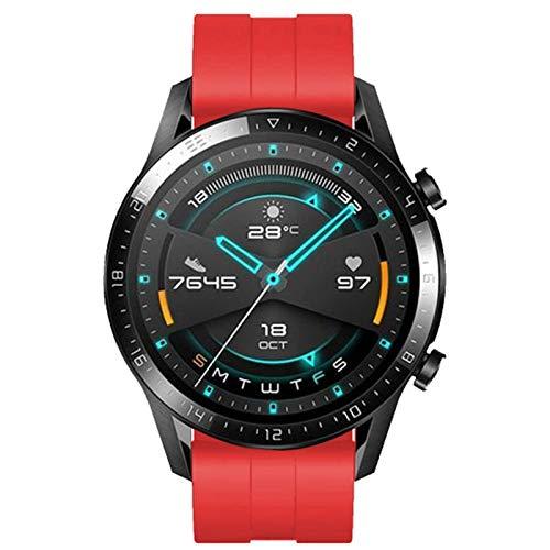 CGGA 22 mm para Huawei Watch GT / 2 / 2E / Pro Correa para Samsung Gear S3 Frontier Deporte Pulsera de Silicona Silicona Forgalaxy Watch 3 45mm / 46mm / gt2 / gt2e Band Band Strap