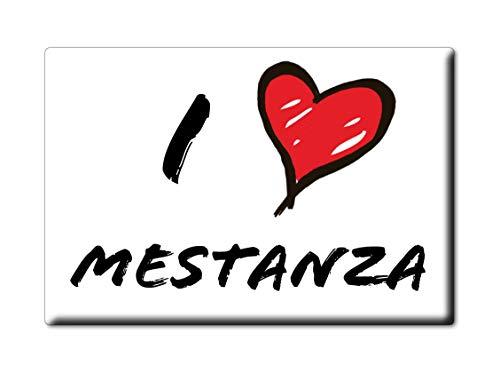 Enjoymagnets MESTANZA Souvenir IMANES DE Nevera Reino Unido Castilla LA Mancha IMAN Fridge Magnet Corazon I Love (VAR. Informal)